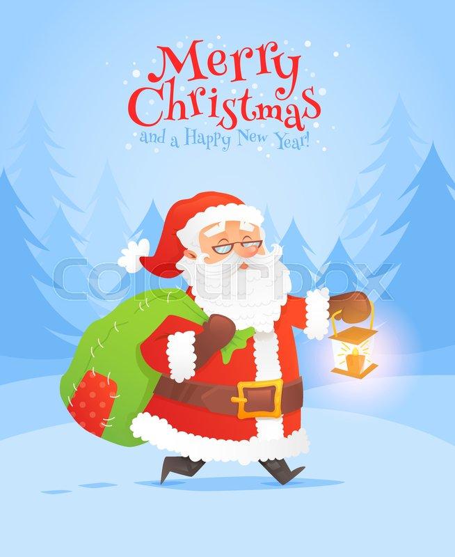 Christmas Celebration Cartoon Images.Santa Claus Christmas Celebration Stock Vector Colourbox