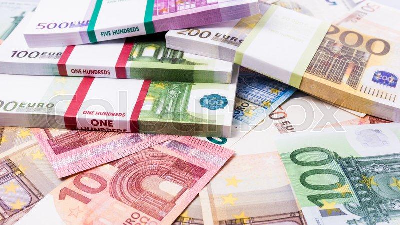 Lots of cash money euros euro money banknotes money - Stock piastrelle 2 euro ...