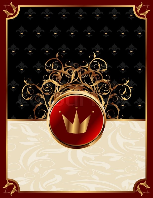 Illustration gold invitation frame with crown or packing for illustration gold invitation frame with crown or packing for elegant design vector stock vector colourbox stopboris Choice Image