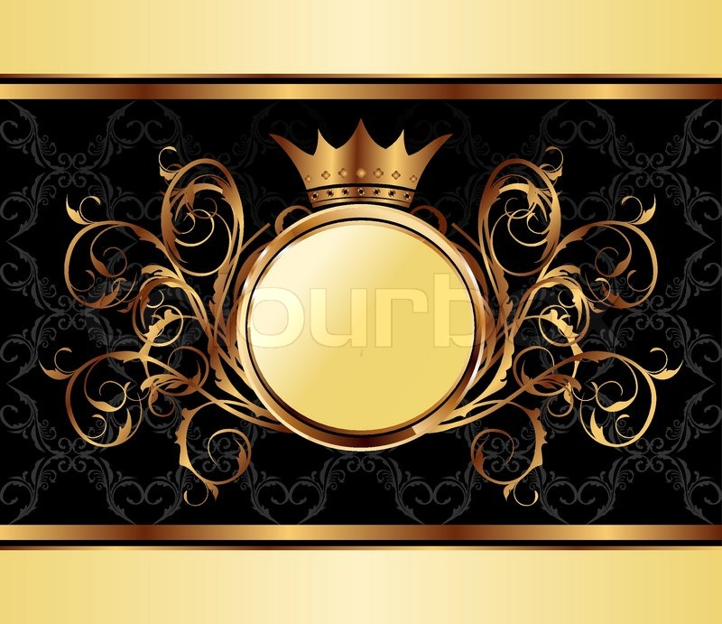 Illustration gold invitation frame or packing for elegant design illustration gold invitation frame or packing for elegant design vector stock vector colourbox stopboris Image collections