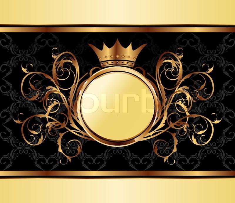 Illustration gold invitation frame or packing for elegant design illustration gold invitation frame or packing for elegant design vector vector stopboris Gallery