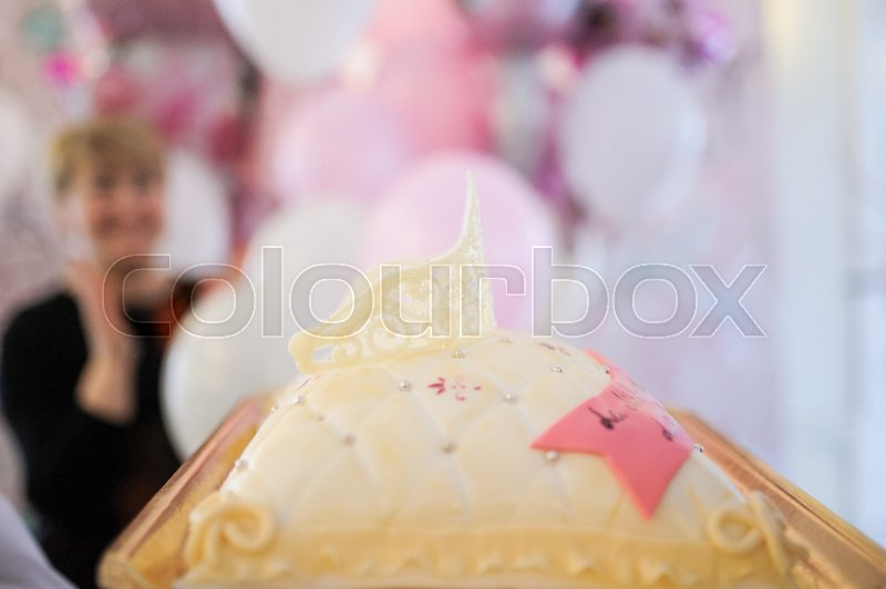 Baby birthday decor or baby shower decor. For little boy or little girl, stock photo