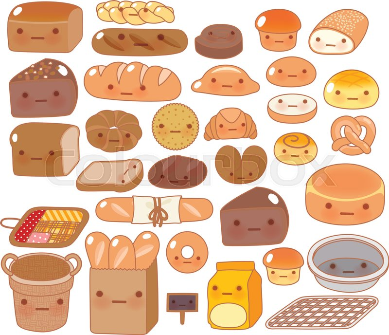 collection of lovely baby bakery food doodle icon  cute Wood Grain Vector Pattern Wood Grain Wallpaper