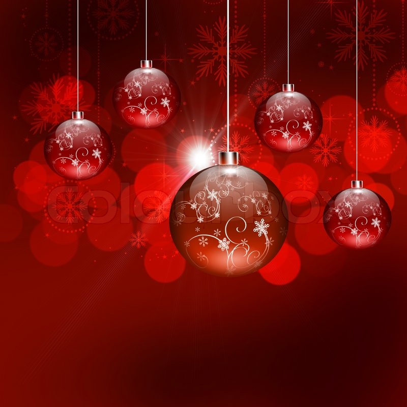 abstract background with christmas tree balls and colored lights on christmas stock photo colourbox