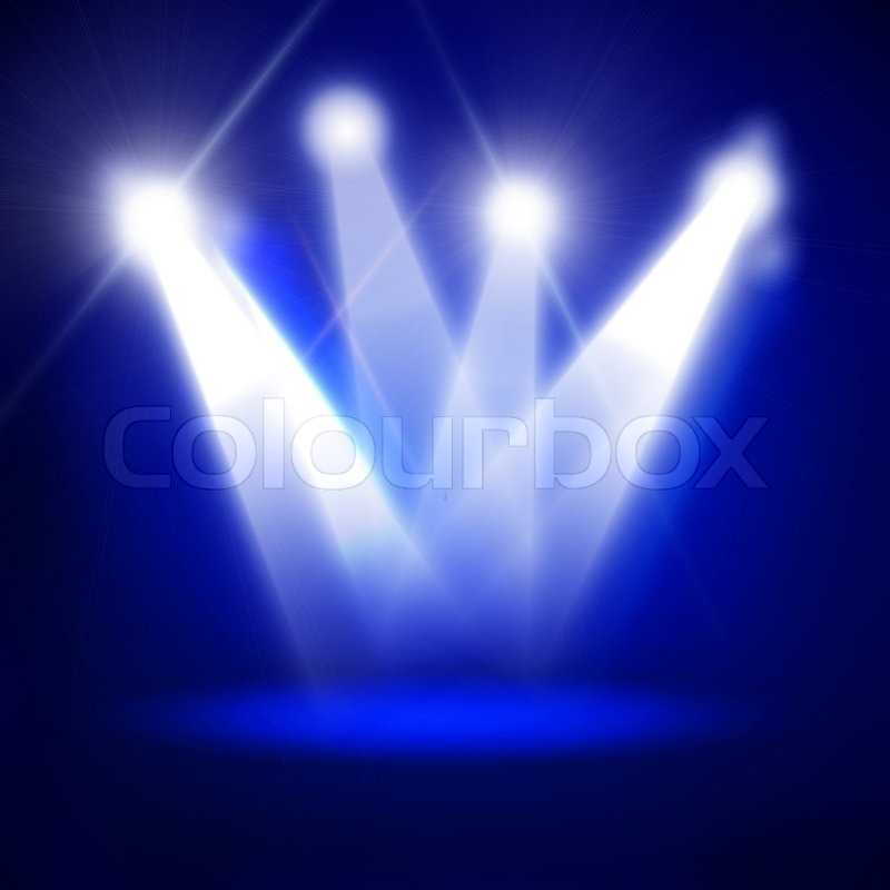 Abstract image of concert lighting against a dark ...