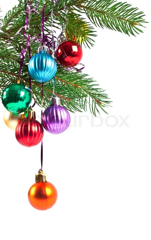 Christmas and new year decorations fir tree branch with for New christmas decorations