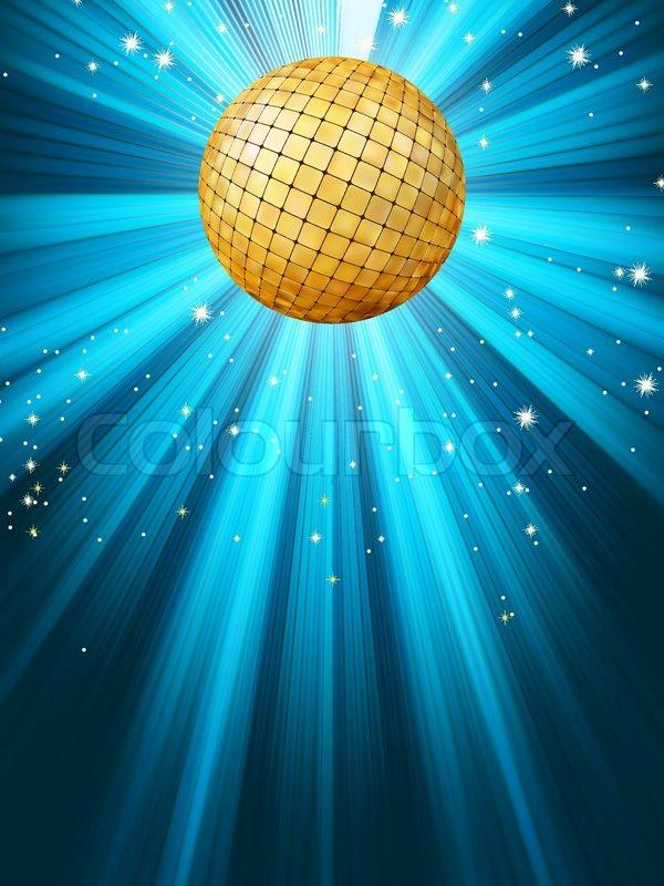 Blue disco background EPS 8 | Vector | Colourbox
