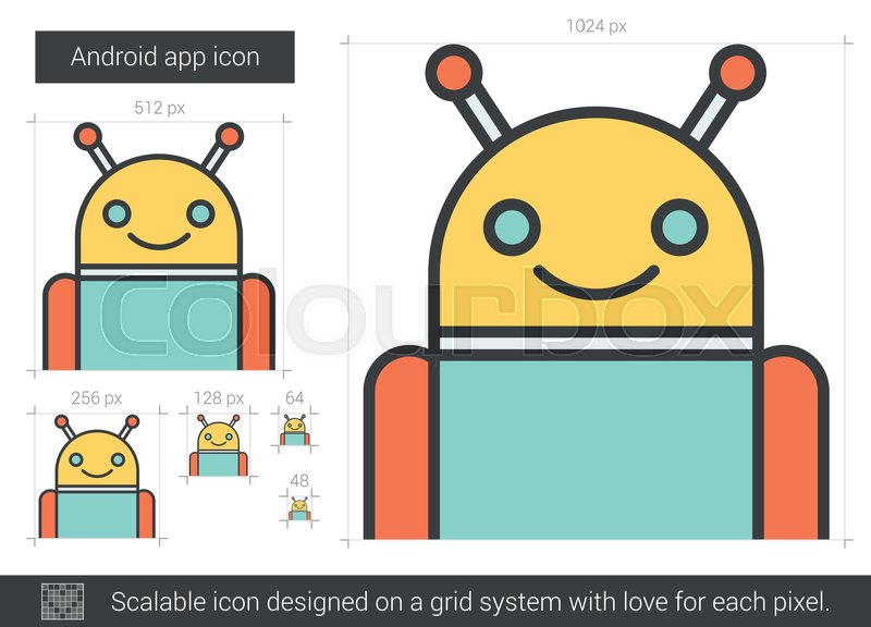 Robot vector line icon isolated on     | Stock vector