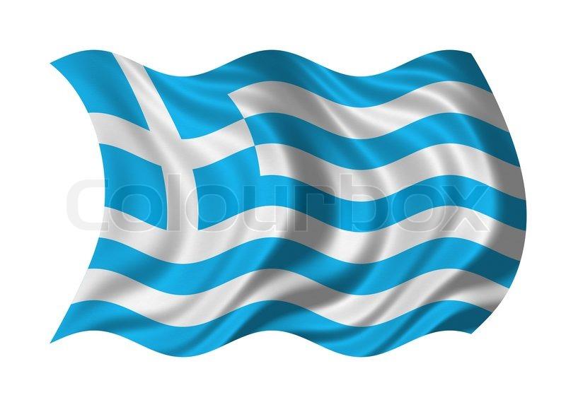 Flagge von Griechenland isoliert auf weiem Hintergrund
