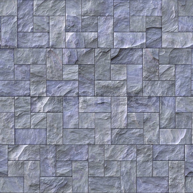 Stone Wall Pattern : Seamless slate stone wall or path pattern that tiles
