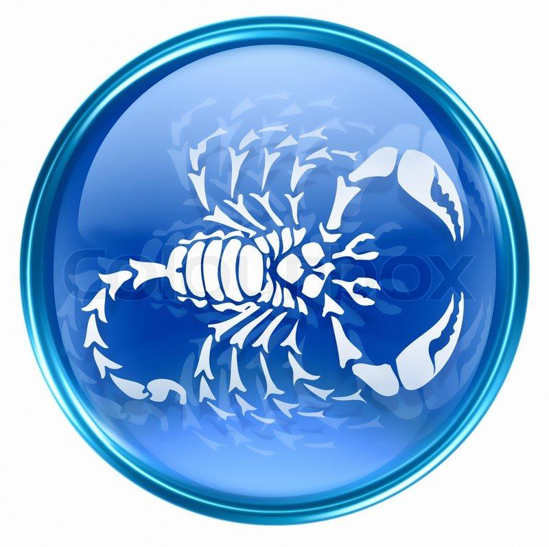 sternzeichen skorpion symbol isoliert auf wei em hintergrund stock foto colourbox. Black Bedroom Furniture Sets. Home Design Ideas