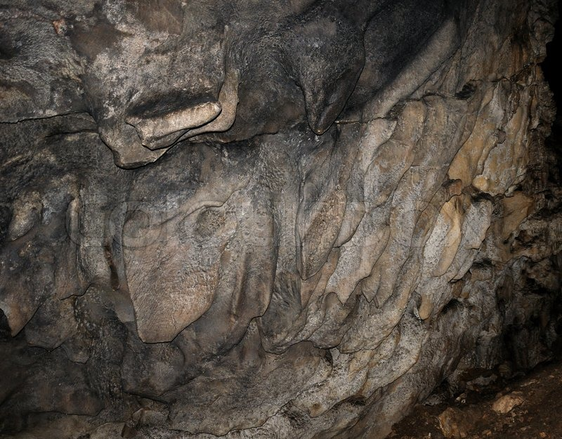A Fragment Of A Karst Cave Wall Rocks Stock Image Colourbox