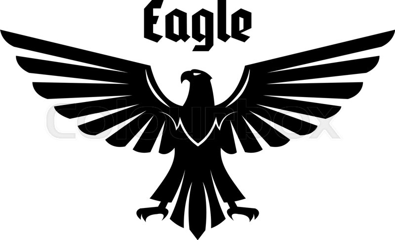 Eagle Heraldic Symbol Black Eagle Falcon Or Hawk Bird With