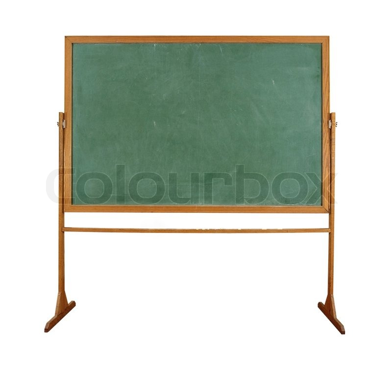 Schultafel mit kreide clipart  Nahaufnahme von einer leeren Schule Tafel auf weißem | Stockfoto ...