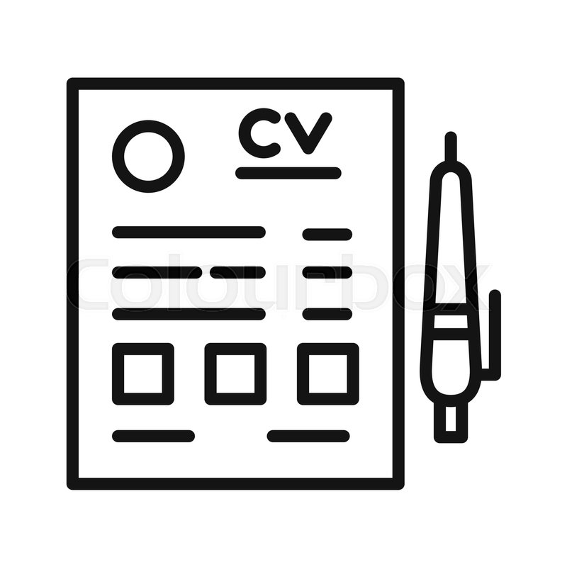 Cv Resume Vector Illustration Design Stock Vector Colourbox