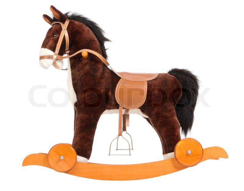 Tidsmæssigt Brown legetøj hest med en sadel , et | Stock foto | Colourbox UN-48