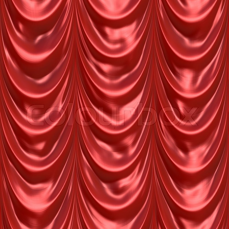 An illustration of a silky satin red fabric or curtain This tiles ...