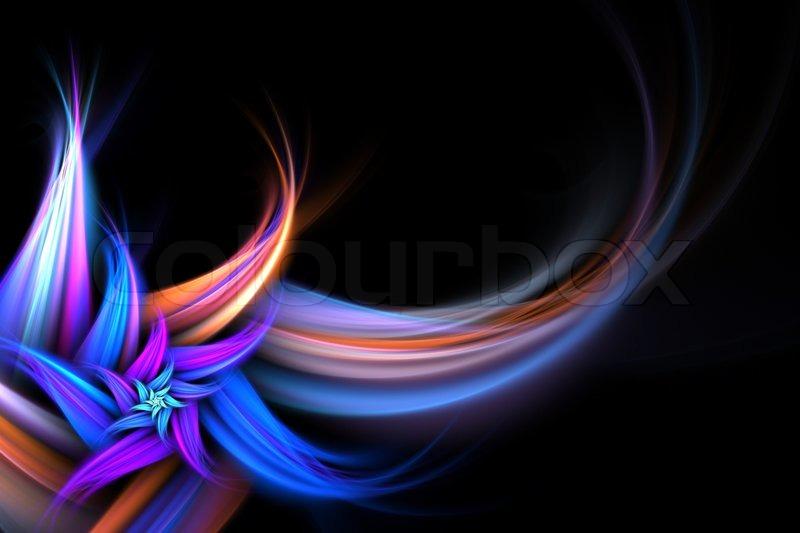 Design Bilder eine abstrakte fraktalen hintergrund blume mit viel copyspace stil