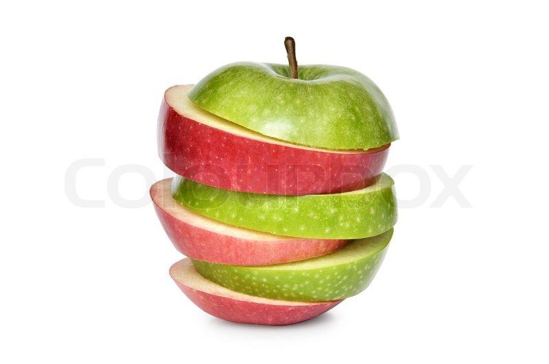 red apple slice. red apple slice