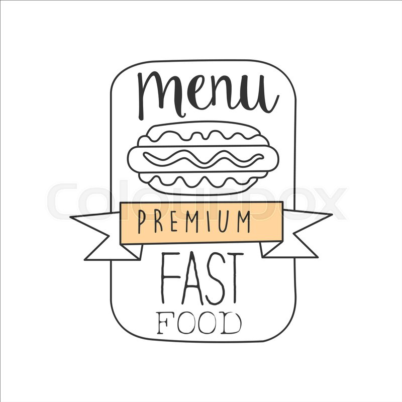 Hot Dog In A Frame With The Ribbon Premium Quality Fast Food Street ...