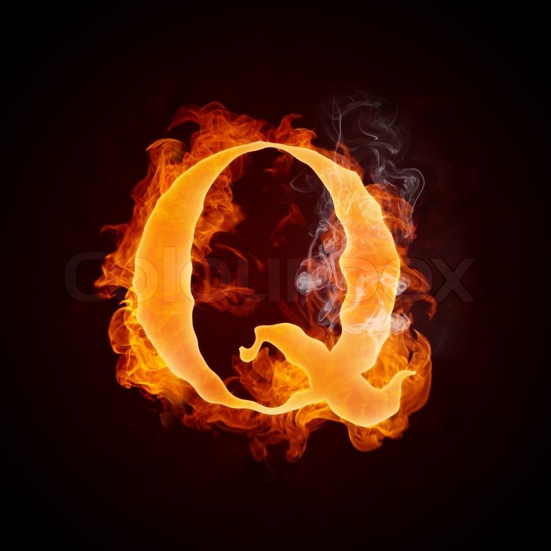 Fire letters q isolated on black background computer design stock fire letters q isolated on black background computer design stock photo colourbox thecheapjerseys Images