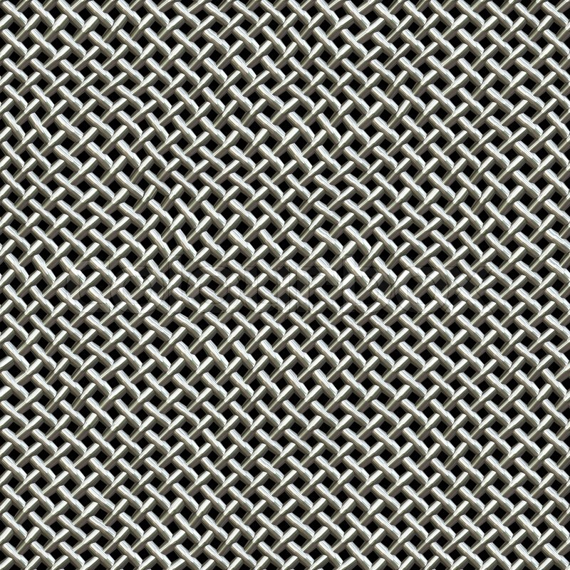A Silver Metal Wire Mesh Texture Found On Microphonesthis