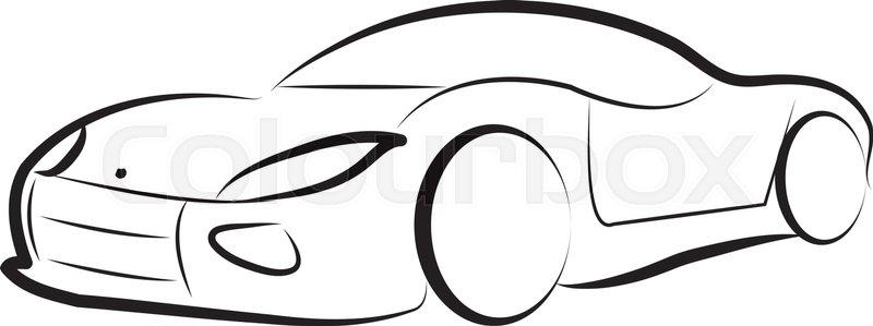 car silhouette vector logo sketch vector background stock vector rh colourbox com car silhouette vector free download f1 car silhouette vector