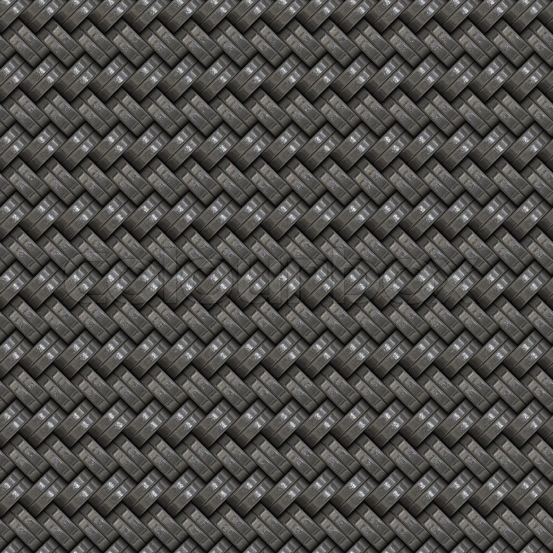 A Silver Woven Texture That Tiles Stock Photo