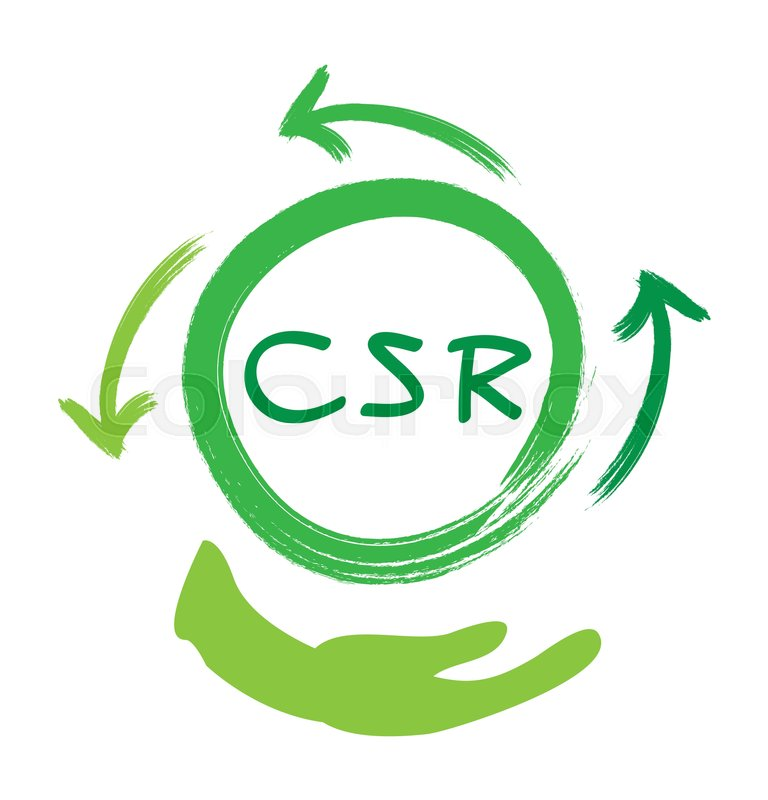 Business Concepts Recycle Icon With Csr Abbreviation Or