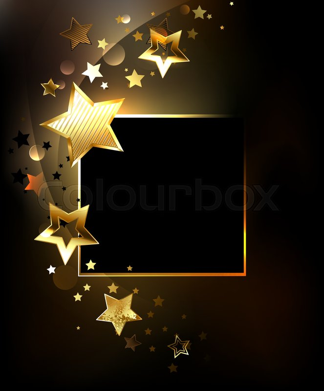 square banner with gold  jewels glittering stars on a Tiny Gold Butterfly Clip Art Big Gold Star Clip Art