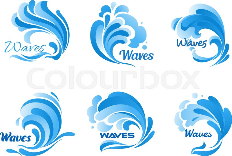 waves vector isolated icons water ocean wave splash tide water rh colourbox com wave vector image wave vector k