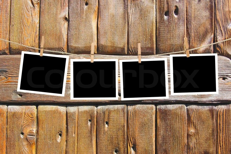 Blank Paper Sheets On A Clothes Line Stock Photo Colourbox