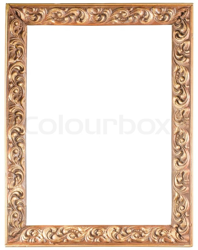 Golden Old Frame Isolated On White Stock Photo Colourbox
