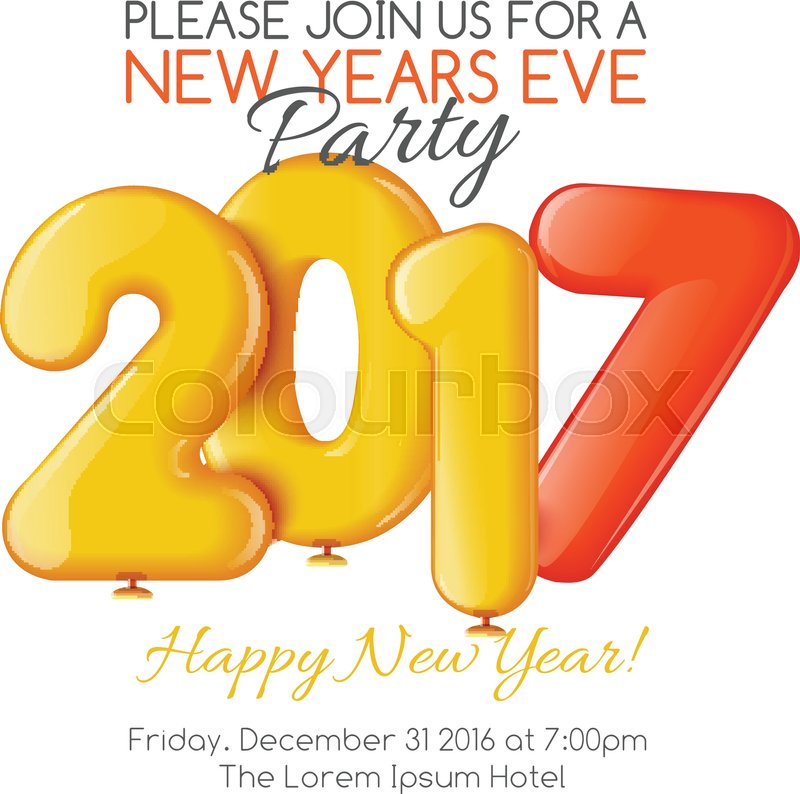new years invitations template