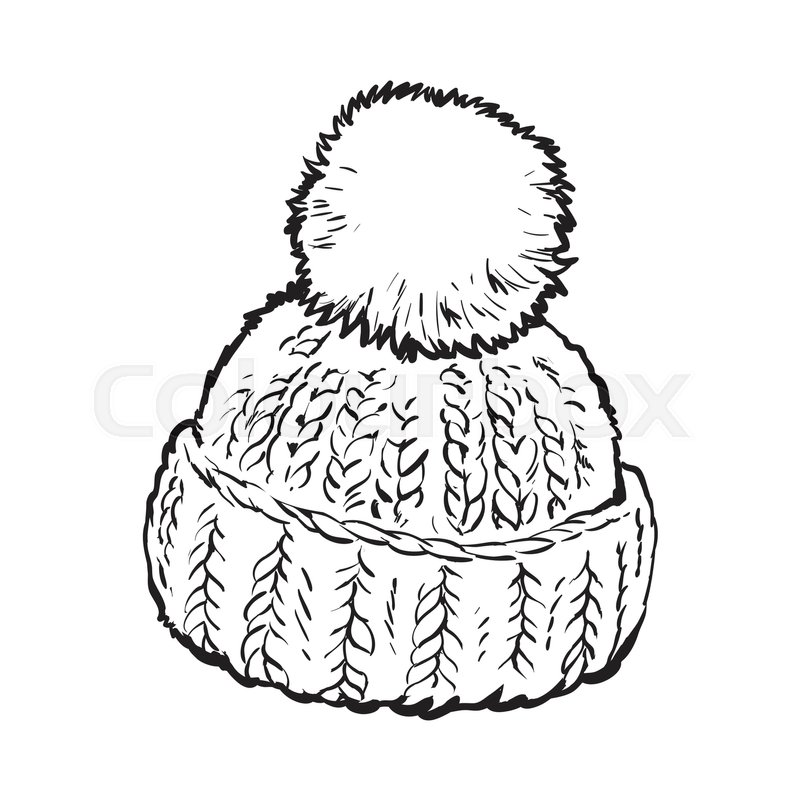 480fecb29e60c Bright winter knitted hat with pompon