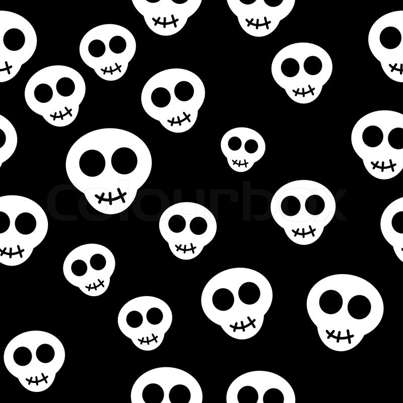 Seamless Pattern With White Skulls On Stock Vector Colourbox