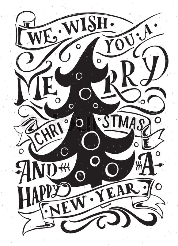 lettering we wish you a merry christmas and a happy new year for christmasnew year greeting card invitation template new 2017 year christmas banner