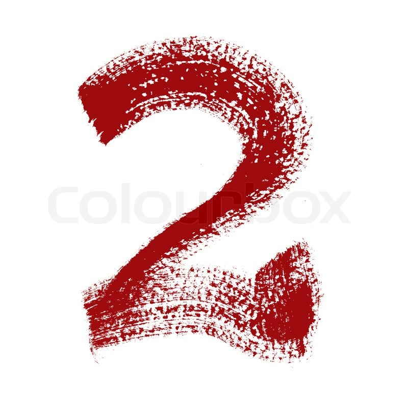 2 - Colorful numbers isolated over the ...   Stock Photo ...