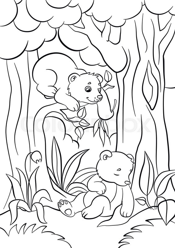 Forest celine - Jungle & Forest Adult Coloring Pages | 800x565