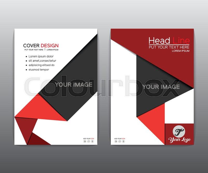 Brochure Red Black Elegant Vector Annual Report Leaflet Brochure - Brochure template design