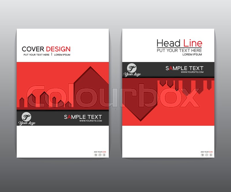 Book Cover Layout Questions : Brochure red black elegant vector annual report leaflet