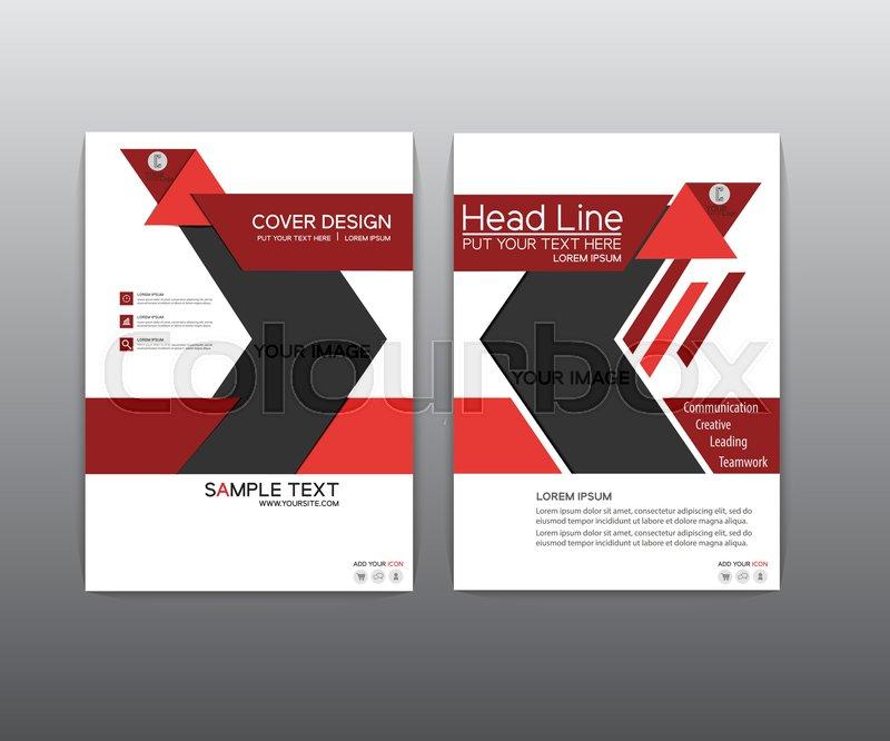 Brochure Red Black Elegant Vector Stock Vector Colourbox