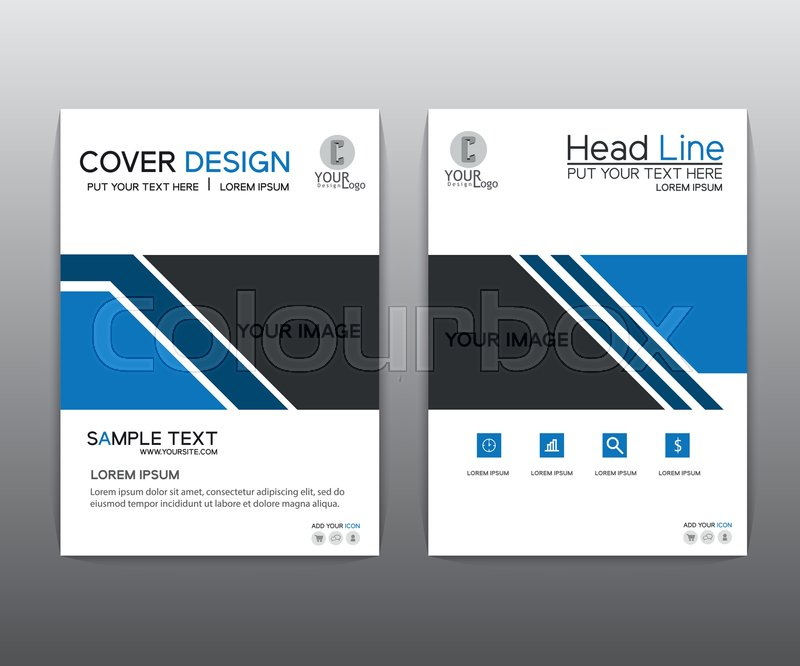 brochure blue black elegant vector annual report leaflet brochure template design book cover layout design red brochure black brochure stock vector