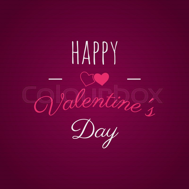 Happy Valentines Day Lettering Vector Photo Overlay Hand Drawn