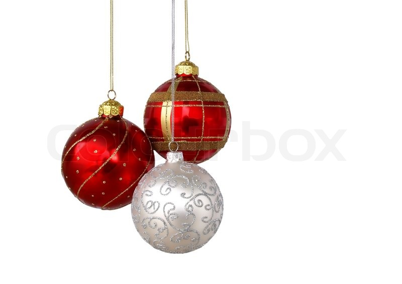 Christmas Decorations Png Silver Ball Isolated