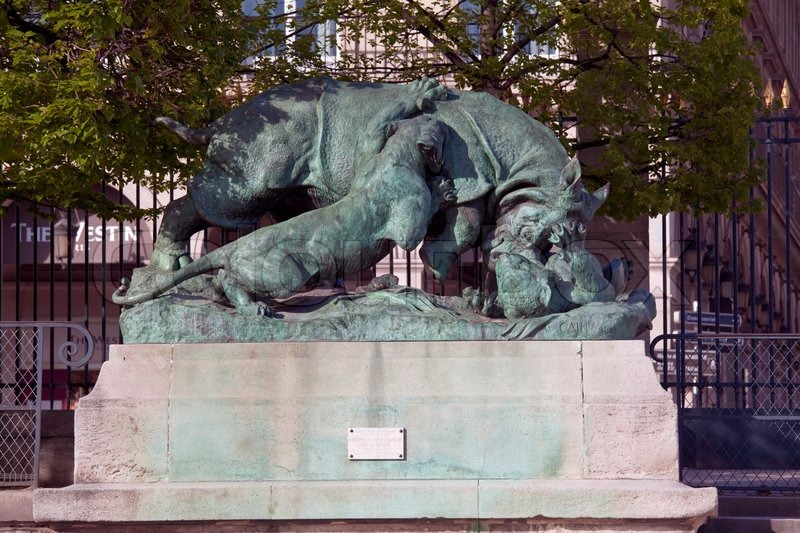 Statue from animal serie by auguste cain 1822 1894 in jardin des tuileries the tuileries - Statues jardin des tuileries ...
