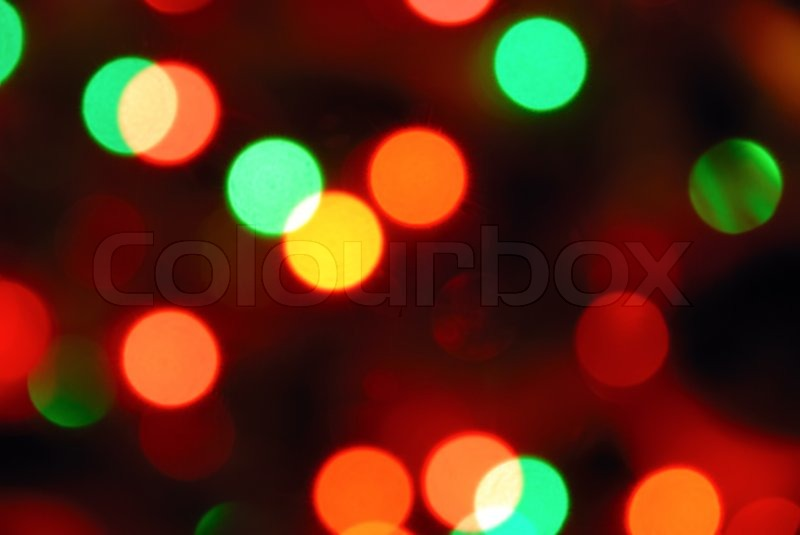 color photo of blurred christmas lights at night stock photo colourbox - Blurred Christmas Lights