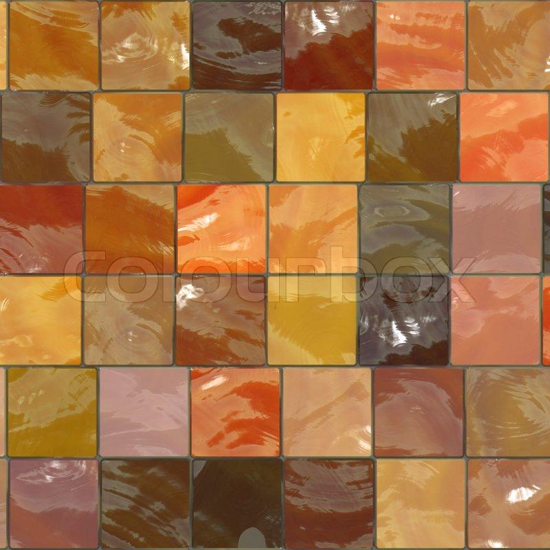 Orange badev relsesfliser m nster stock billede colourbox for Carrelage english