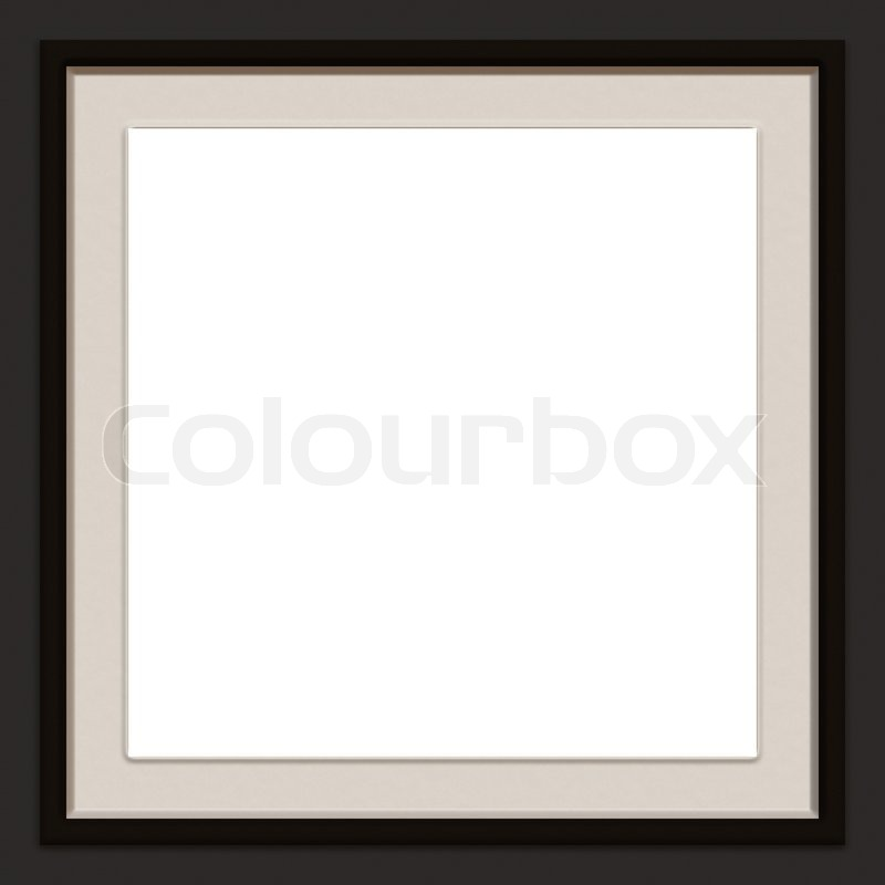 A Modern Contemporary Picture Frame Stock Photo