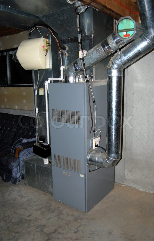 Inline Air Conditioner : A residential oil furnace forced hot air with central